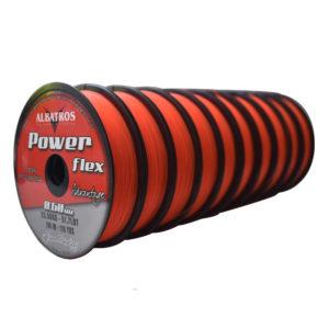 monofilamento power flex naranja fluo